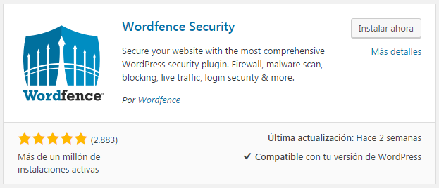 Plugin wordfence